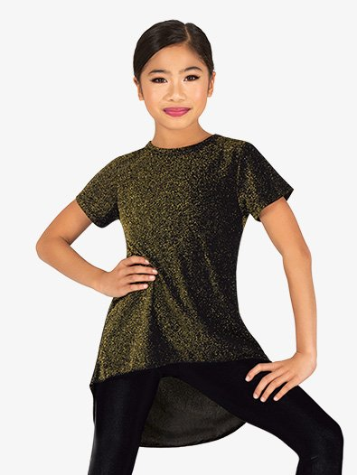 Girls Sparkle High-Low Dance Top - Style No 20305Cx