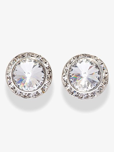 17MM Clip On Swarovski Crystal Earrings - Style No 2710C