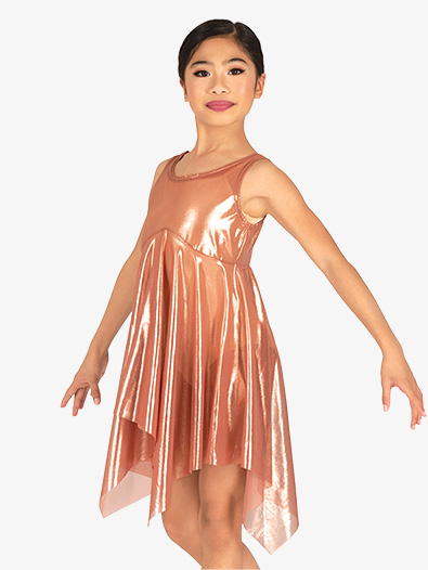 Girls Performance Shimmer Tank Overdress - Style No BW4023