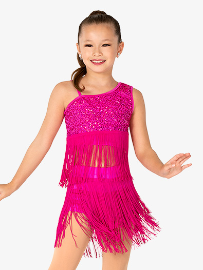 Girls Performance Sequin and Fringe Set - Style No EL483Cx
