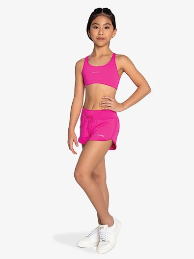 Girls Breathable Athletic Shorts - Style No F14346C