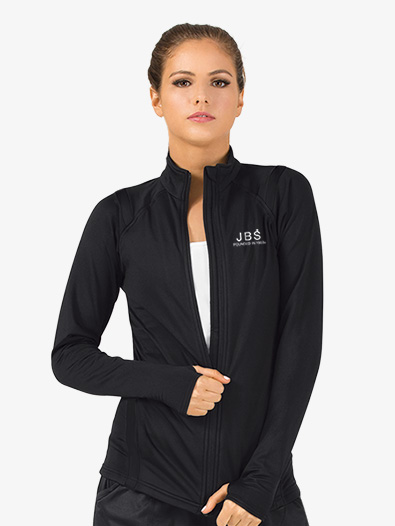 Womens Zip-Up Long Sleeve Dance Jacket - Style No JB106x