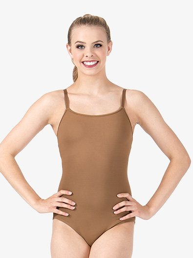 Womens Adjustable Camisole Leotard with Attached Bra - Style No L8730x