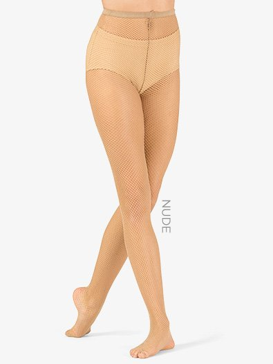 Womens Footed Fishnet Dance Tights - Style No LA9001