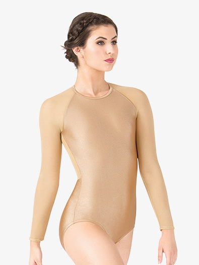 Adult Emballe Mesh Long Sleeve Leotard - Style No N7396x