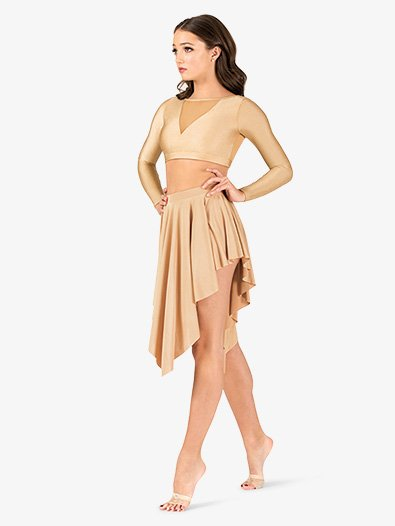 Womens Lyrical Flow Collection Asymmetrical Skirt - Style No N9114