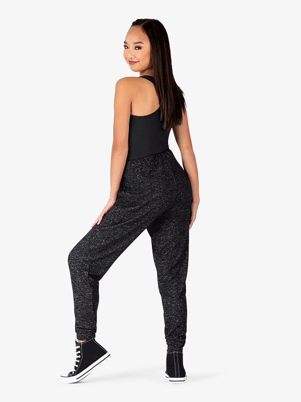 Womens Plus Size Tapered Dance Jogger Pants