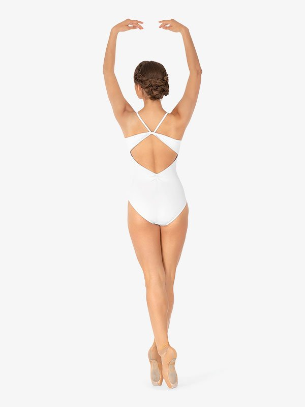 Womens Pinched Back Camisole Leotard